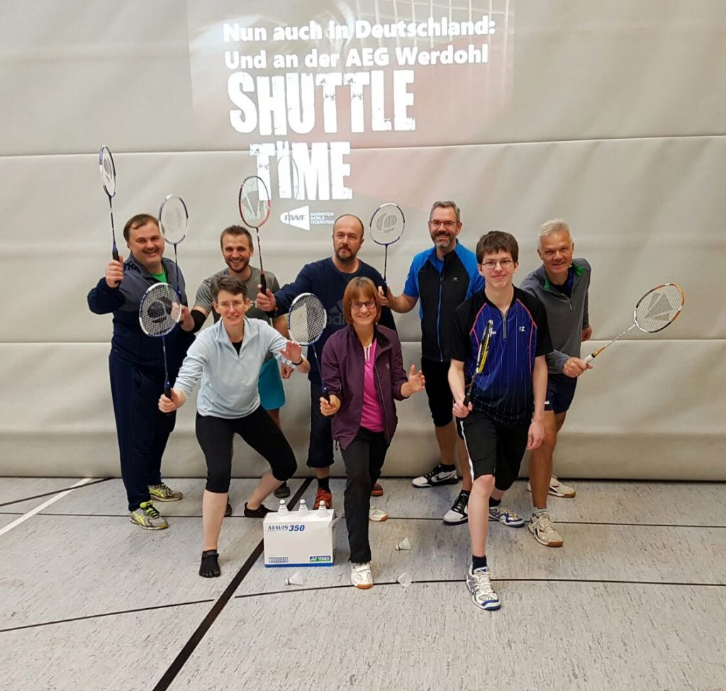 Shuttletime an der AEG Werdohl